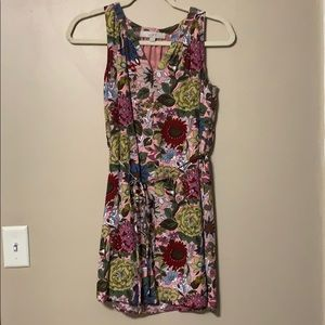 LOFT Floral Sleeveless Dress, size XSP like new!